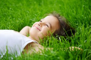 enjoying the grass